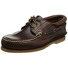 Timberland Men's Classic 3 Eye Padded Boat Shoes, Brown (Md Brown Full Grain), 10 UK 44.5 EU