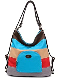 BYD - Mujeres Mitil Function Bag Bolsos bandolera Bolsos mochila School Bag Cross Body Bag Mutil Ppockets Design Colorful Canvas Material