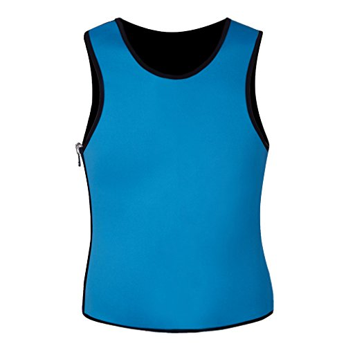 DODOING Men's Neoprene Slimming Vest Fat Burner Tank Tops Weight Loss Sauna Suit Gym Shaper
