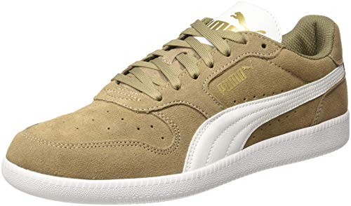 Puma, Icra Trainer Sd, Sneaker, Unisex adulto, Marrone (Fossil-Puma White-Puma Team Gold 41), 43 EU