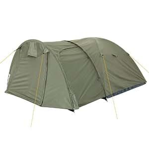 campfeuer kuppelzelt iglu zelt mit gro em vorbau f r 3 4 personen olivgr n sport. Black Bedroom Furniture Sets. Home Design Ideas