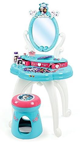Smoby Toys- 320214- La Reine des Neiges Coiffeuse 2 en 1, Modulable, Nombreux rangements, + 10 Accessoires Inclus