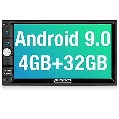 PUMPKIN-Android-90-Autoradio-Radio-mit-Navi-4GB-Untersttzt-Bluetooth-DAB-Android-Auto-USB-WiFi-MicroSD-2-Din-7-Zoll-Bildschirm