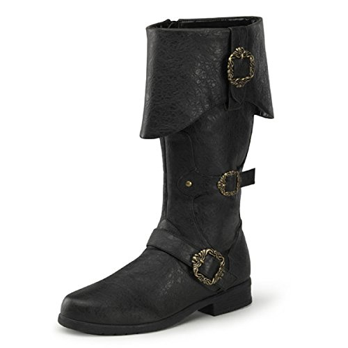 Higher-Heels Funtasma Piratenstiefel Carribean-299 schwarz Gr. 41-42,5