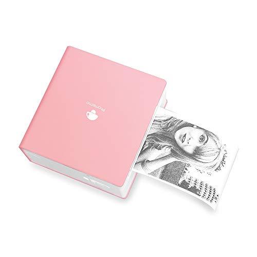 Phomemo-M02 Taschendrucker Mini Bluetooth Drucker, Fotodrucker, Mobiler Drucker, Thermodrucker, Belegdrucker Kompatibel mit Android&IOS, DruckenTerminkalenderl, Tagebuch, Gutes Geschenk, Rosa