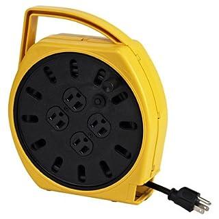 Alert Stamping 6000-25G Portable Wind Up Multi-Plug Cord Reel