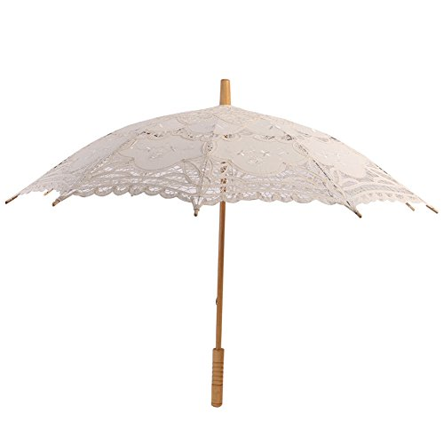 Reefa Hochzeit Regenschirm, Vintage Spitze Baumwolle Stickerei Sonnenschirm Sonnenschirm, Hochzeit...