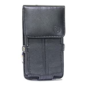 Jo Jo A6 G12 Series Leather Pouch Holster Case For Micromax Canvas Doodle 3 Black
