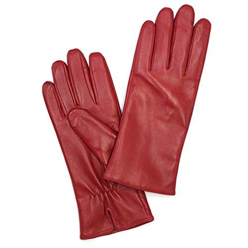 guanti pelle vintage Harssidanzar Donna Guanti Da In Pelle Italiana Di Lusso Con Finitura Vintage Foderati In Cashmere