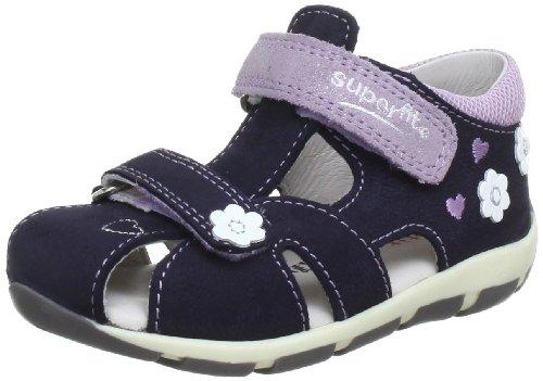 Superfit 00014081, Chaussures basses bébé fille Bleu (Ocean Kombi 81)