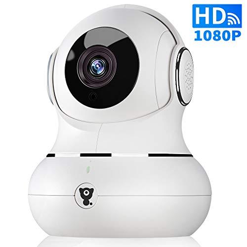 1080P WLAN IP Indoor Überwachungskamera - Littlelf WiFi Home Wireless Haustier Baby Monitor Kamera mit 2-Wege Audio, Infrarot Nachtsicht, 3D Panorama, Fernalarm für iOS/Android, Cloud-Speicher