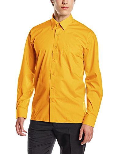 "Price comparison product image Premier Workwear Mens Long Sleeve Poplin Shirt Sunflower Size - 17""(43cm)"