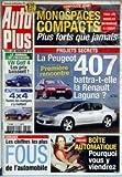 AUTO PLUS [No 713] du 07/05/2002 - MONOSPACES COMPACTS - LA PEUGEOT 407 - LA ERNAULT...
