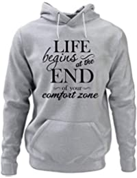 Life Begins At The End of Your Comfort Zone Sudadera Inspirational Sudadera Life Sudadera Inspirational Sudadera