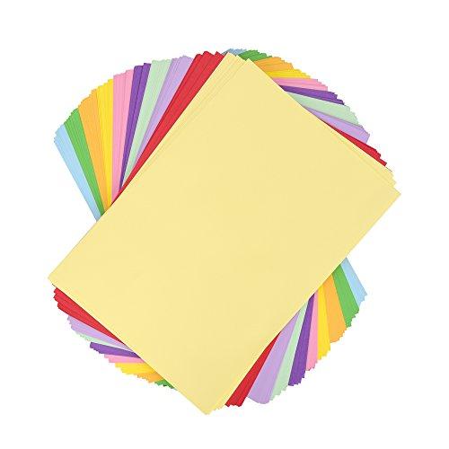 farbpapier Bastelpapier - Tonpapier-Set A4, farbig sortiert - 100 Blatt 110 g/m²