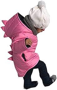 Chaqueta Bebé Niño con Capucha Abrigo Invierno Ligero con Diseño Animados Dinosaurio para Chicos 1-7 Años Ropa