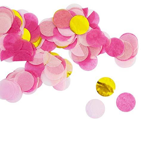 ier Konfetti Pink Gold Rosa Tisch Streu Deko für Geburtstag Party Hochzeit Feier JGA Junggesellinnenabschied ()