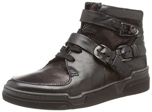 Mjus 792209-0202-0002, Sneaker alta donna, Nero (Schwarz (Nero+TDM+Nero+Nero)), 36