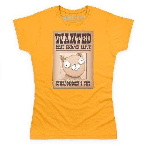 Schrodinger's Cat - Wanted! T-Shirt, Damen Gelb