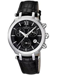 Candino - C4521/2 - Montre Femme - Quartz - Chronographe - Chronomètre/Aiguilles Luminescentes - Bracelet Cuir Noir