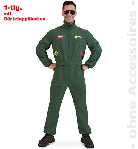 FRIES Herren kostüm Kampfpilot Overall Karneval Fasching Gr.M