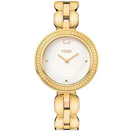 Fendi Women's 36mm Gold-Tone Steel Bracelet & Case Swiss Quartz White Dial Analog Watch F351434000