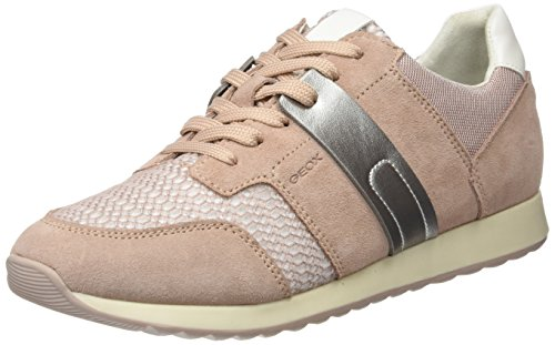 Geox D Theragon C, Zapatillas para Mujer, Rosa (Antique Rose), 41 EU