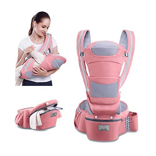 CXYGSJJ Portabebés Desmontable Asiento De Cadera Desmontable Múltiples Posiciones Cómodo Portabebés Recién Nacido para Todas Las Estaciones Baberos para El Bebé. (Color : B)