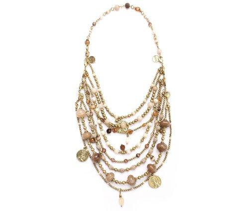 Exoal Collier de Luxe Beige/Gold