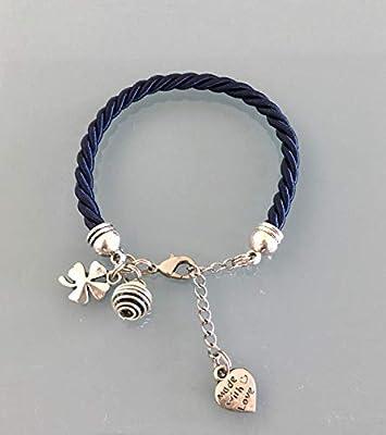Bracelet trèfle, Bracelet à parfumer en soie tissée bleu marine avec trèfle, bijoux cadeaux, bracelet femme, bijou trèfle, idée cadeau femme anniversaire