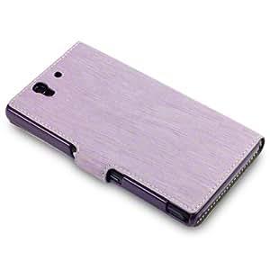 """Étui / Housse """"Covert"""" en Cuir Ultra-mince pour Sony Xperia Z - Violet"""