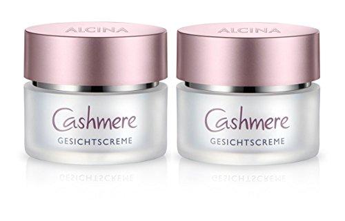 ALCINA Cashmere Gesichtscreme 2x 50ml - Luxuspflege für Winterhaut