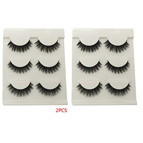 6 paires Femmes Filles Gros Faux Cils Faux cils 3D Extensions Femme maquillage cosmétiques réutilisables fibre