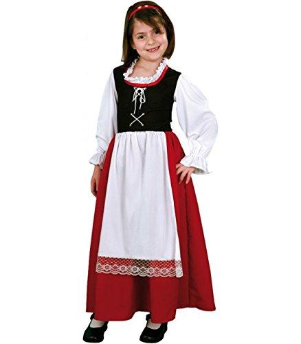 Imagen de disfraz de pastora aldeana en varias tallas para niña