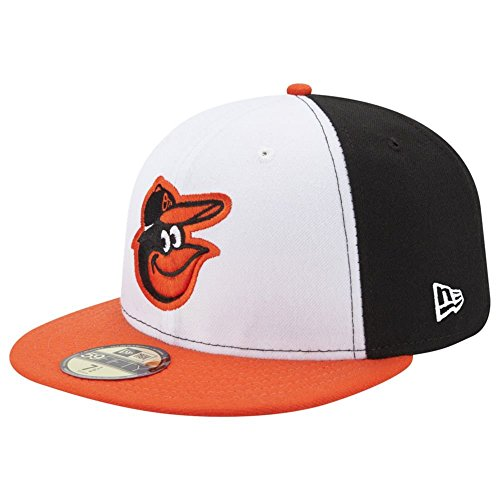 New Era Baltimore Orioles AC Performance Home 59fifty Fitted Cap MLB Authentics (Baltimore Orioles Cap)