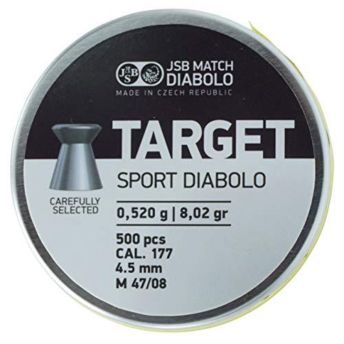 JSB Target Sport Diabolo Kaliber 4,5 mm / .177 Luftgewehr Luftpistole Munition Flachkopf - 500 Stück