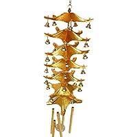 De Metal De 7 Capas Del Techo De Campana 5 Tubos Suerte Feng Shui Carillón De Viento Colgante Encanto