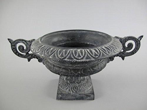 Urna in ghisa nero ferro rustico altezza