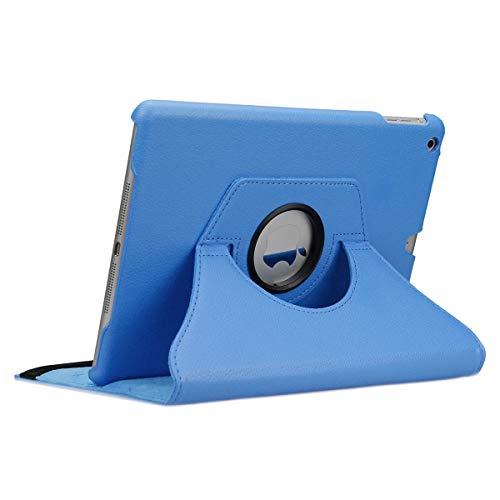 doupi Deluxe Protección Funda para iPad Air (1. Gen.), Smart Sleep/Wake Up función 360 Grados giratoria del Caso del Soporte Bolsa, Azul