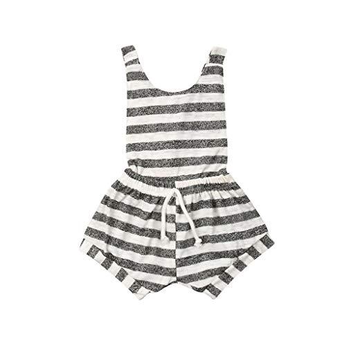 Generic JERFER Softshell Overall Ärmellose, rückenfreie, gestreifte Overall-Outfits für Kleinkinder -