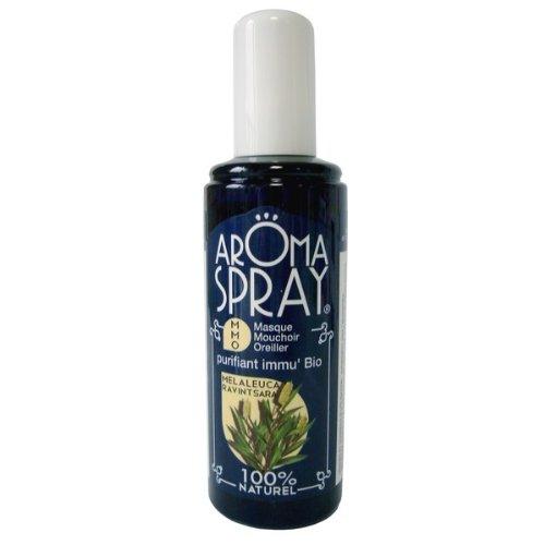 AROMA SPRAY - Spray d'Ambiance - Aromathérapie - MMO Melaleuca Ravintsara - Bouclier protecteur - Antivirale - Huiles Essentielles 100% pures et naturelles - 100 ml