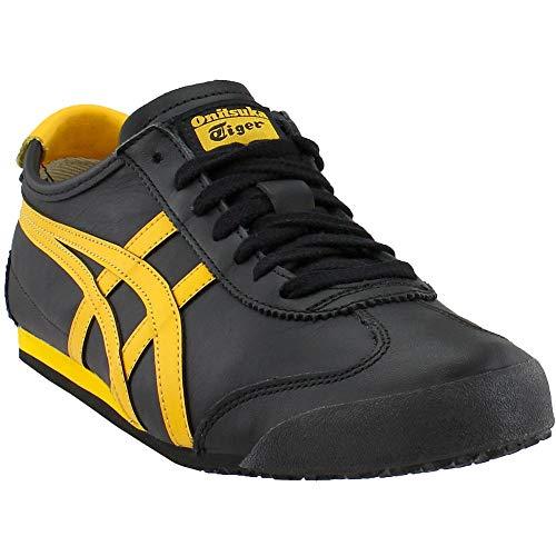 Gold Fusion (Asics Retro Glide Sneaker, niedrig, Unisex, Erwachsene, Black/Gold Fusion - Größe: 38 EU)