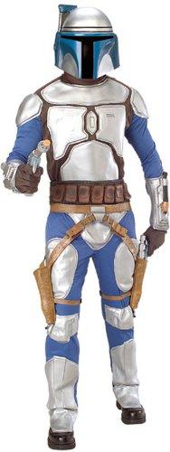 Star Wars Deluxe Herren Kostüm Jango Fett Größe M/L (Clone Trooper Kostüme Erwachsene)