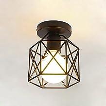 KOONTING Retro Vintage Industrial Lámpara de techo de interior de metal , para pasillo, pasillo, porche, dormitorio, etc( Shape :A)