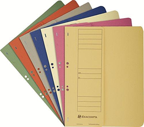 Exacompta 351600B Ösenhefter (Vorderdeckel und Beschriftungsfeld) 50-er Pack, 5 Farben sortiert