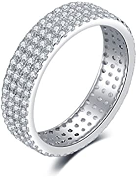Jewelrypalace 2.9ct Band Gestirnt Damen luxus Geschenk Ring Silberring 925 Sterling Silber
