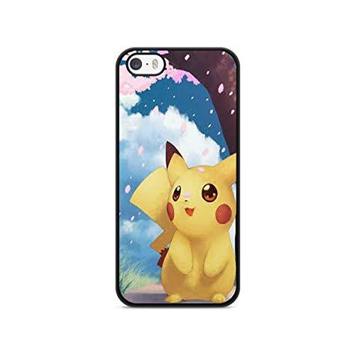 Coque en Folie ] Coque pour Iphone 5c Pokemon go Team Pokedex Pikachu Manga Tortank Game Boy Color Salameche Noctali Valor Mystic Instinct Case + Stylet + Lingette de Nettoyage Ecran 6
