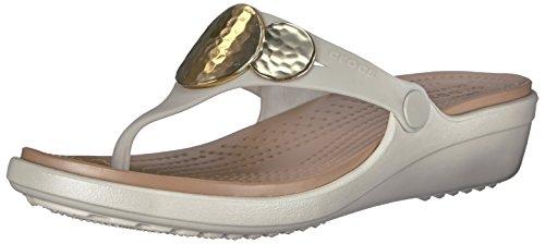 Crocs Women's Sanrah Embellished Flip Wedge Sandal