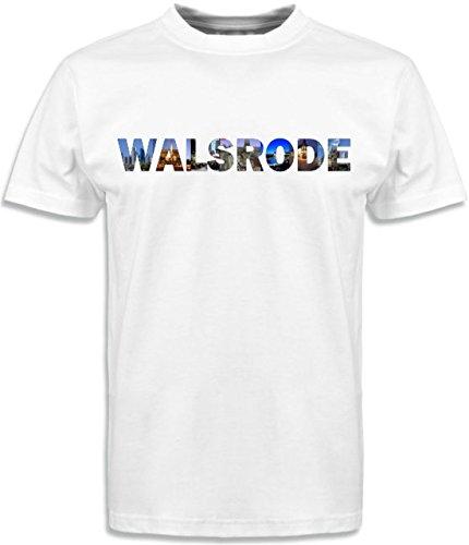 T-Shirt mit Städtenamen Walsrode Weiß