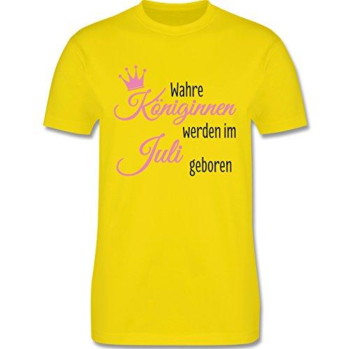 Geburtstag - Wahre Königinnen werden im Juli geboren - Herren Premium T-Shirt Lemon Gelb